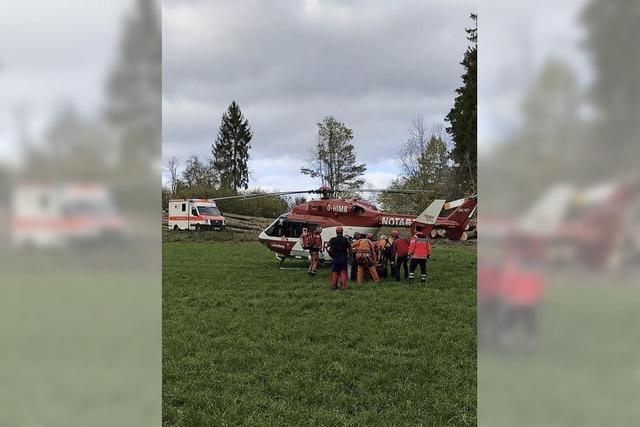 Bergwacht hilft Verletztem
