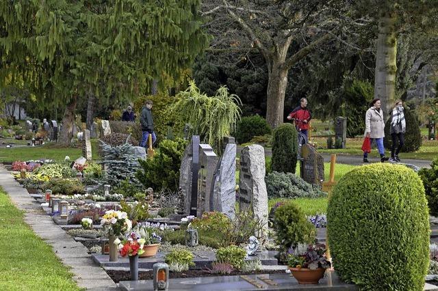 Gedenken der verstorbenen Angehörigen