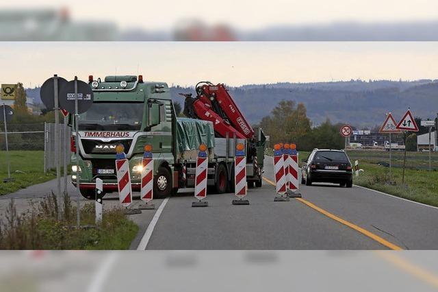 Schaeffler-Straße ist halbseitig gesperrt