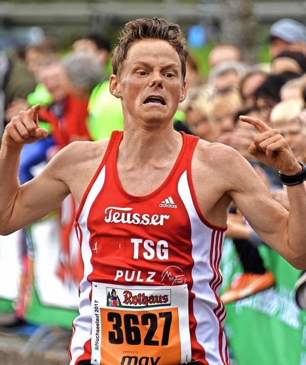 DM-Siebter im Marathon: Benedikt Hoffm... an der Hans-Thoma-Schule in Neustadt   | Foto: Patrick Seeger (A)