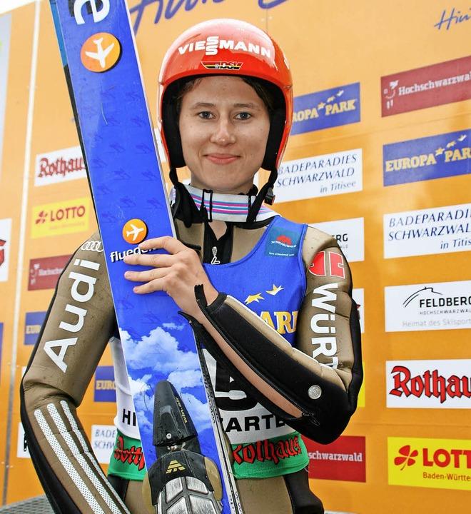 Ramona Straub blickt nach ihrer Rückke...eder zuversichtlicher in die Zukunft.   | Foto: Dieter Maurer