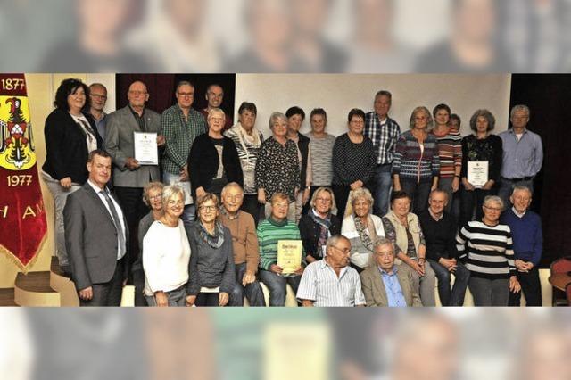 Der Turnverein zeichnet langjährige Mitglieder aus