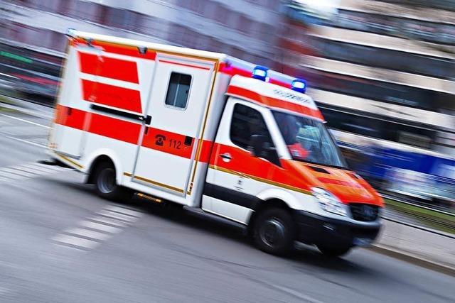 Arbeiter von Lieferwagen eingeklemmt und lebensgefährlich verletzt