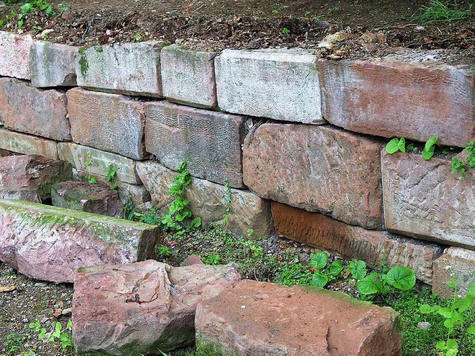Trockenmauer an der Burg Rötteln  | Foto: Katharina Bartsch