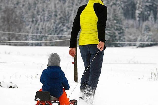 Schnee auf Feldberg lockt Schlittenfahrer an
