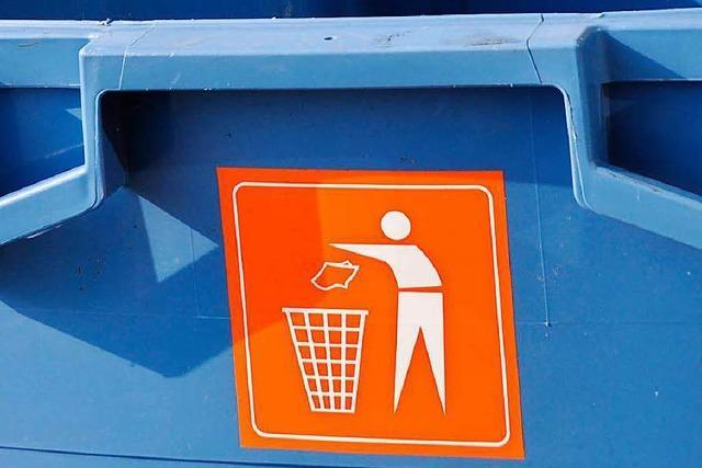 Mülltrennung am Basler Rheinufer hat nicht funktioniert