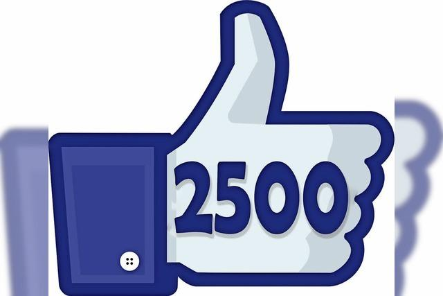 Vielen Dank für 2500 Likes bei Facebook!