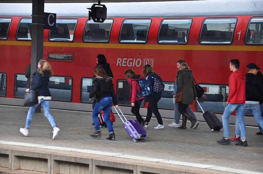 Der Badische Bahnhof der DB liegt auf ...h müssen nach Alternativrouten suchen.    Foto: Daniel Gramespacher