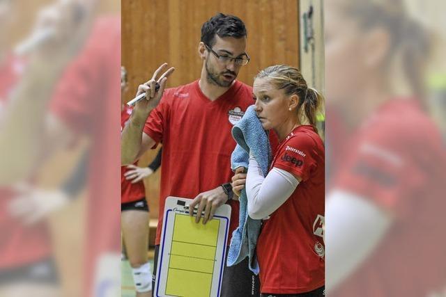 Der 26-jährige Florian Völker ist der erste Profitrainer beim Zweitliga-Frauen-Volleyballteam