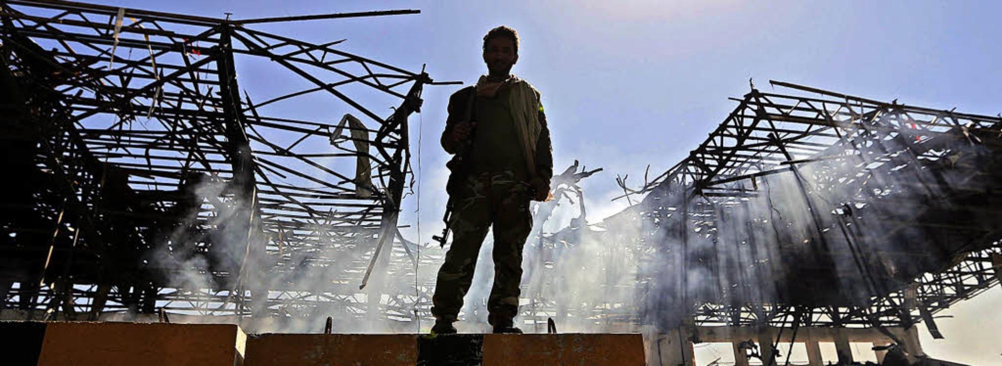 Ein Huthi-Kämpfer in Jemen. Dem Iran w...ischen  Rebellen dort zu unterstützen.    Foto: afp