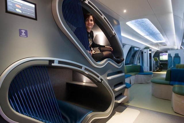 Massagesessel und Großbildfernseher – Deutsche Bahn stellt Ideenzug vor