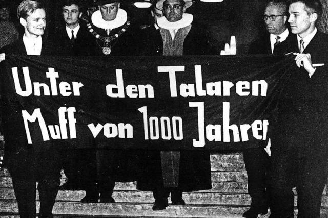 Vor 50 Jahren lehnten sich Hamburger Studenten gegen verkrustete Strukturen an der Uni auf