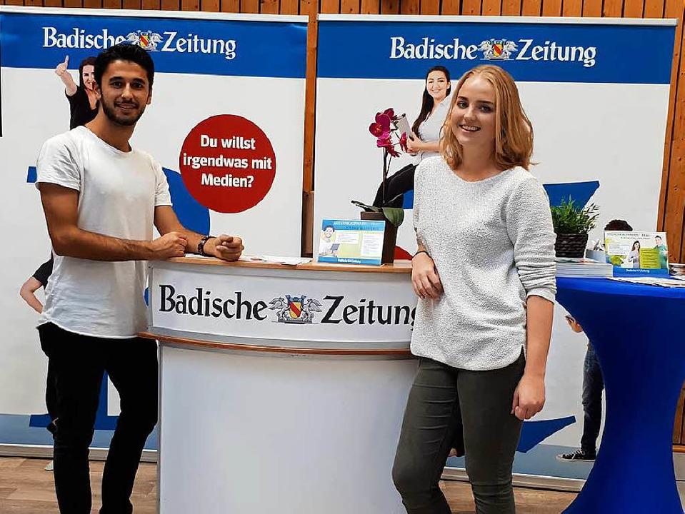 Das diesjährige Projektteam:Volkan S. und Maren W.  | Foto: BZ