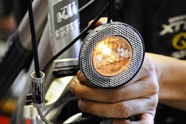 Die meisten Radfahrer in Lörrach fahren mit Licht