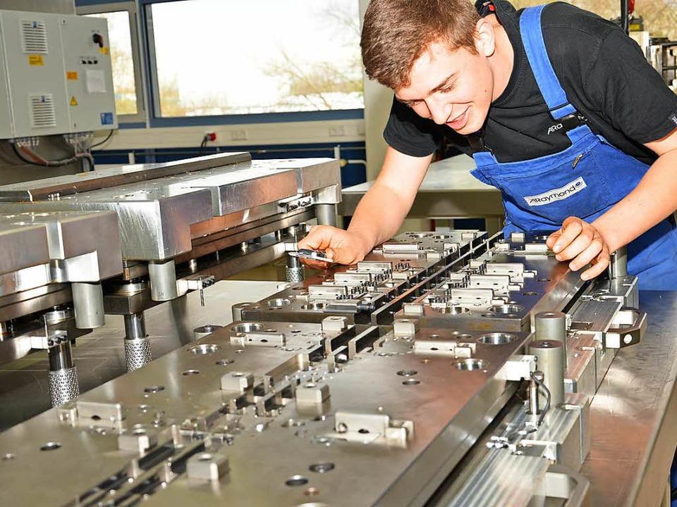 Hier ist  Fingerspitzengefühl gefragt: Werkzeugmechaniker bei der Arbeit.  | Foto: araymond