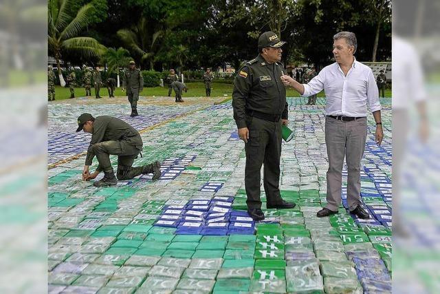 Polizei bechlagnahmt zwölf Tonnen Kokain - im Wert von 310 Millionen Euro