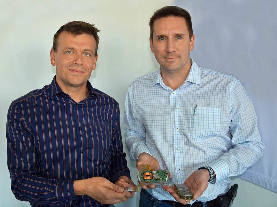 Die Männer an der Spitze von Neuroloop: Michael Lauk (links) und Dennis Plachta.  | Foto: Bernd Kramer
