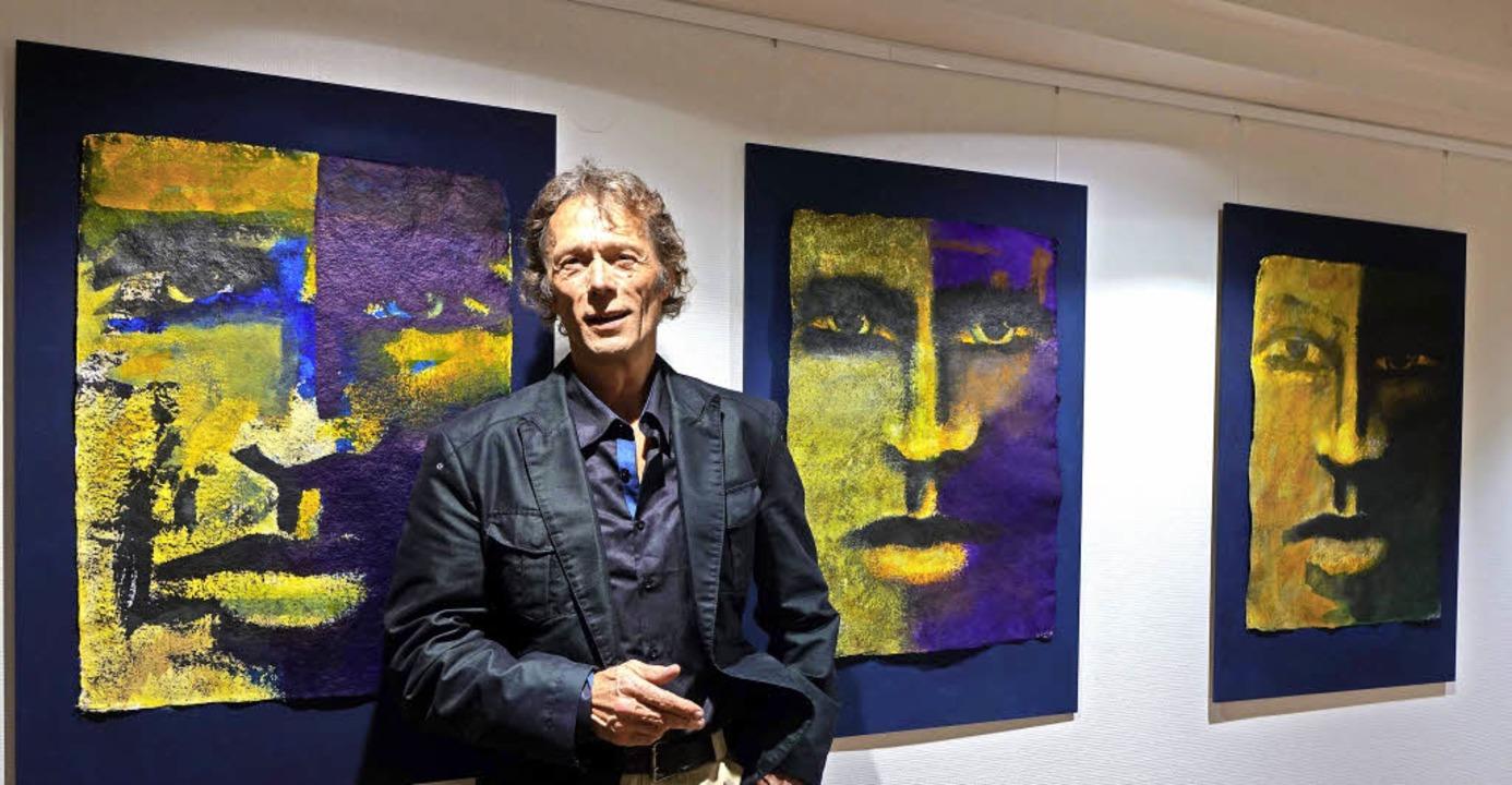 Ausdrucksstarke Gesichter in der Reihe...ng seiner neuen Galerie in Schopfheim.  | Foto: Roswitha Frey