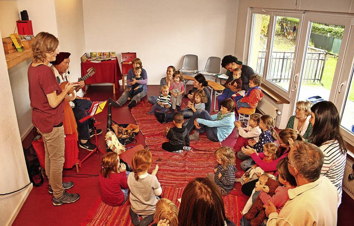 Kinderkonzert mit Liedermacher Hans Sp... des Fami war ein wichtiges Ereignis.   | Foto: Anja Bertsch