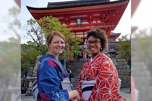 Selfie mit Kimono