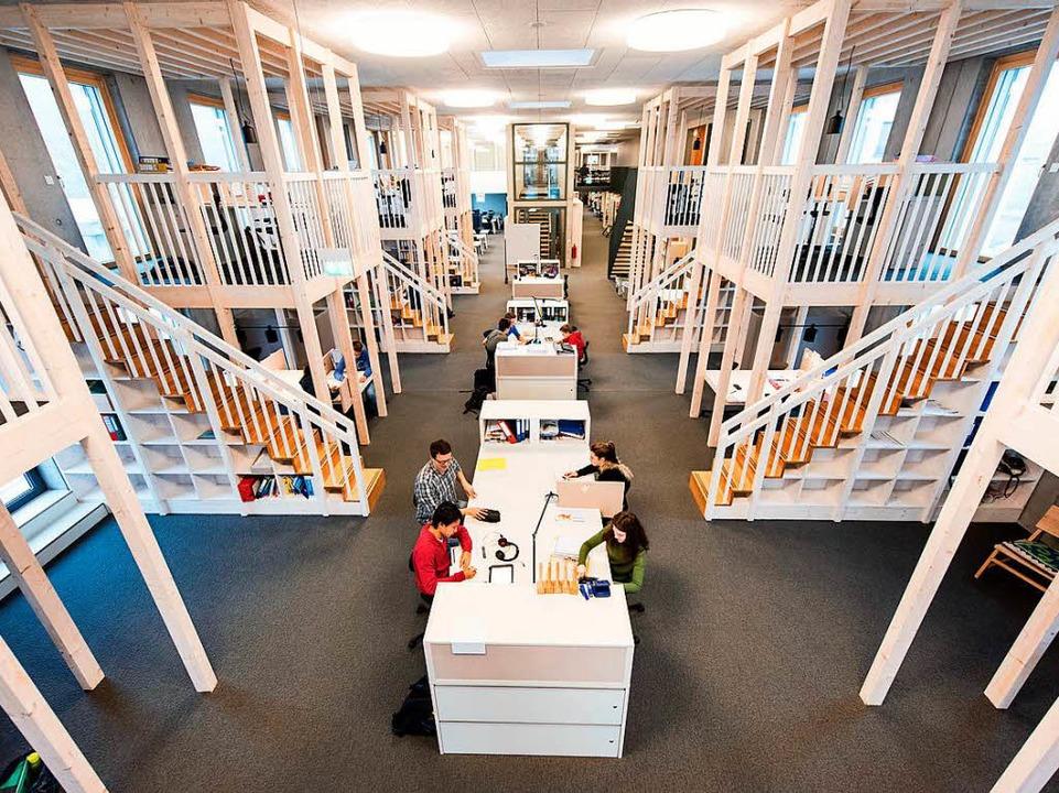 In der digitalen Schule in Wutöschingen gibt es keine Klassenzimmer mehr.  | Foto: Patrick Seeger