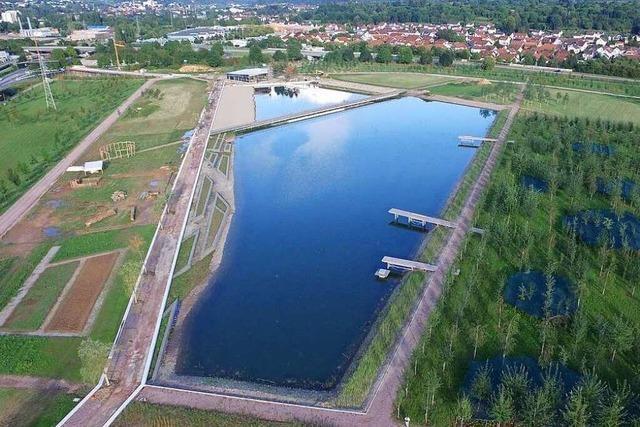 See auf dem Gelände der Lahrer Landesgartenschau hat ein Leck