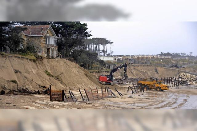 Meeresströmungen und Klimawandel bedrohen küstennahe Bauten in Südwestfrankreich