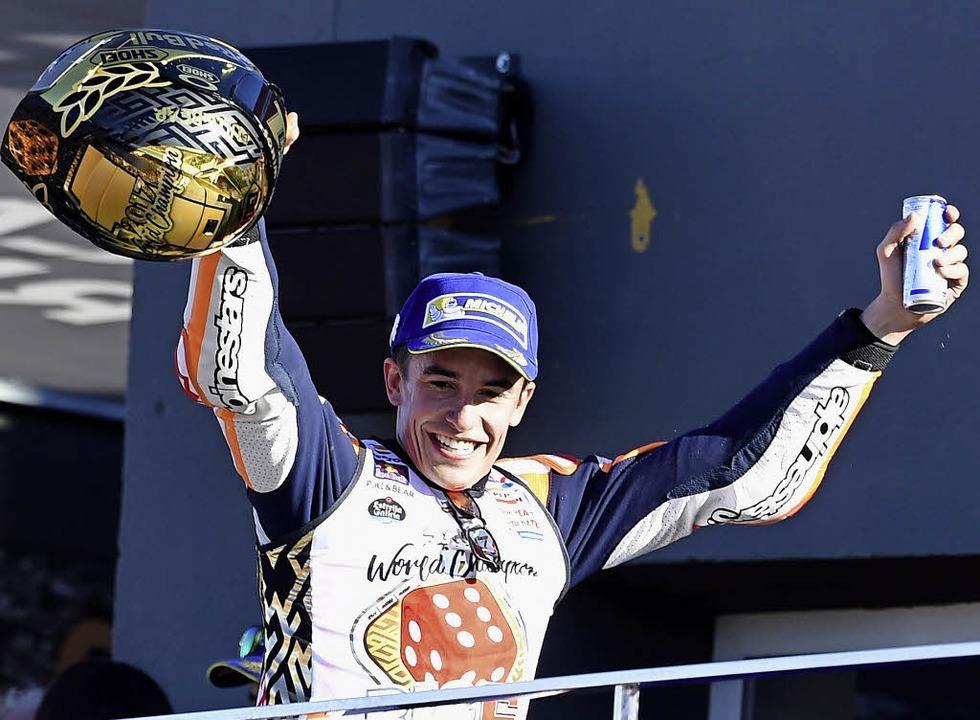 Vierter Moto-GP-Titel: Marc Marquez    Foto: afp