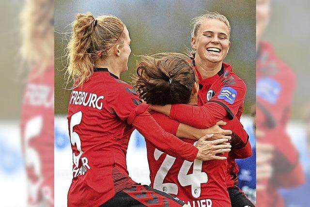 Erstliga-Fußballerinnen des SC Freiburg erkämpfen 2:2 gegen SC Sand