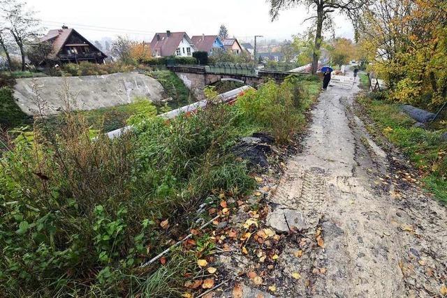 Hangrutsch-Baustelle an der Rheintalbahn in St. Georgen ruht seit Monaten