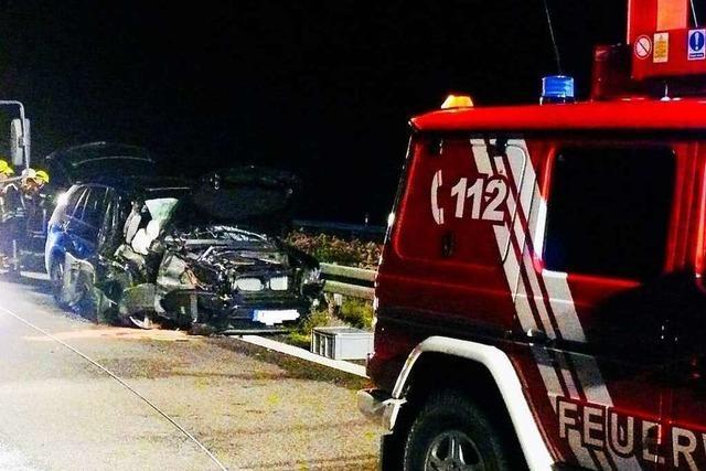 Schwerer Verkehrsunfall auf der A5 bei Neuenburg