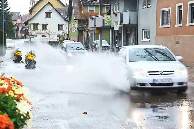 Regengüsse fluten Gemeinden in der Ortenau