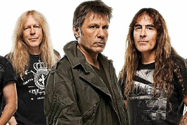 Iron Maiden treten in Freiburg auf dem Messegelände auf
