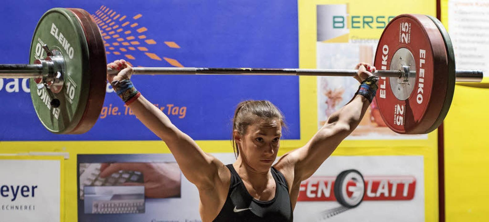 Mit mentaler Stärke nah an der Bestlei...Debüt in der Haagener Schlossberghalle  | Foto: Markus Schächtele
