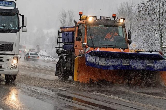 Erst der Sturm, dann der Schnee – viel Arbeit für die Feuerwehr