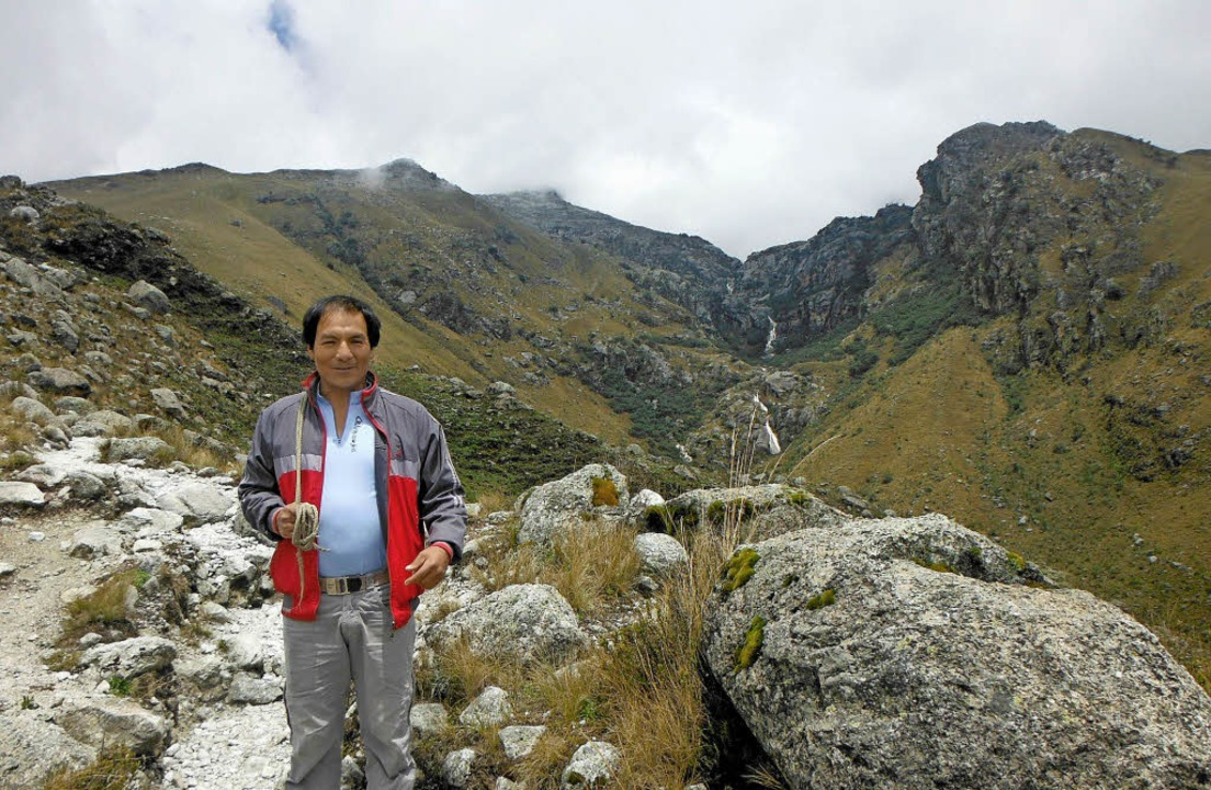 Kläger Saul Luciano Lliuya aus Huaraz (Peru) in seiner Heimat     Foto: dpa