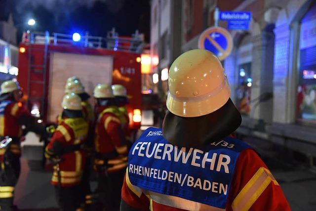 Rheinfelden: Feuerwehr übt den Ernstfall