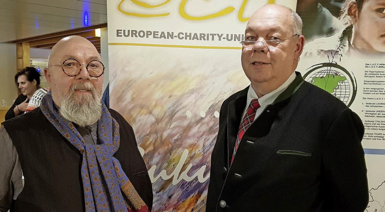 ECU-Förderpreisträger Joachim Glörfeld...samt 60000 Euro für das Frauenkollege.  | Foto: Julius Wilhelm Steckmeister