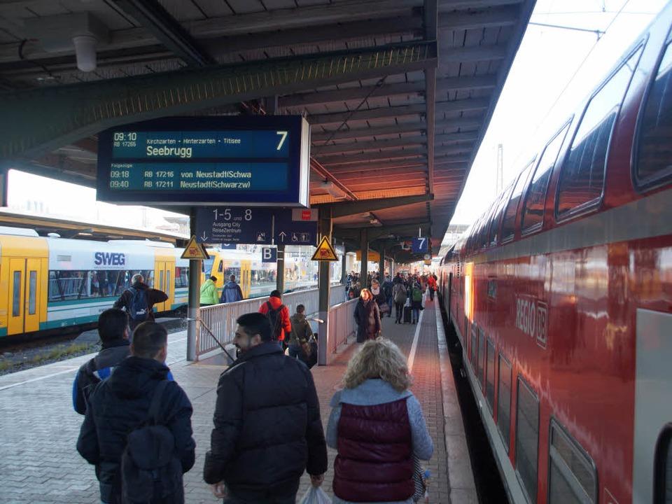 Pendler am Hauptbahnhof  | Foto: Sebastian Wolfrum