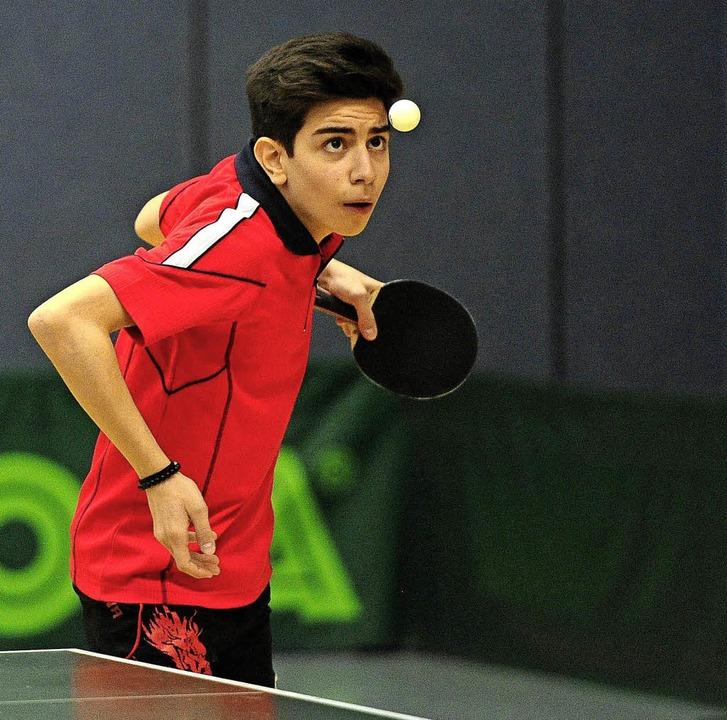 Selim Ilhan vom  TV Lahr im Einzel der U 18.   | Foto:  Büro Schaller