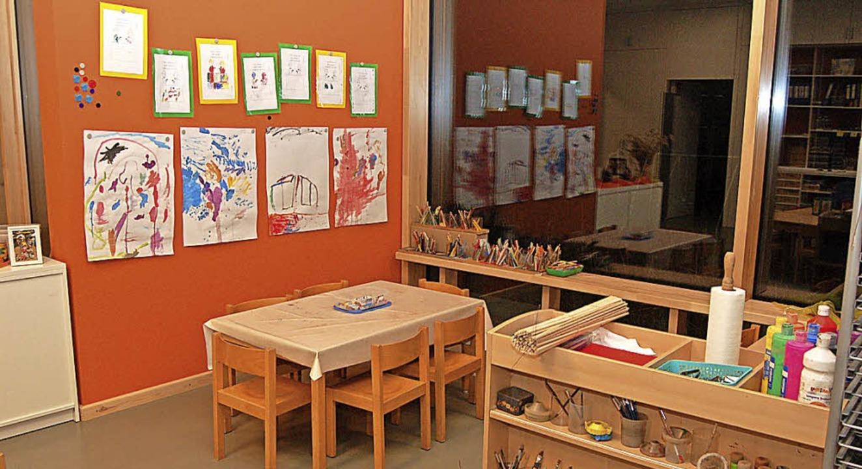 In den Gruppenräumen sollen sich die K...en und gleichzeitig kreativ arbeiten.     Foto: Christian Ringwald