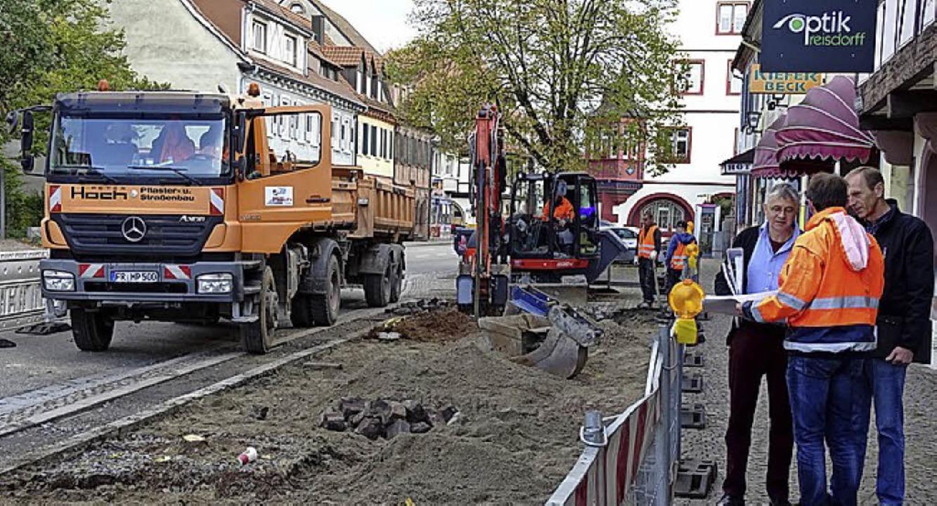 Baustelle Poststraße     Foto: privat