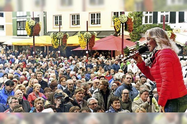 Stadt: Hunderttausende Besucher