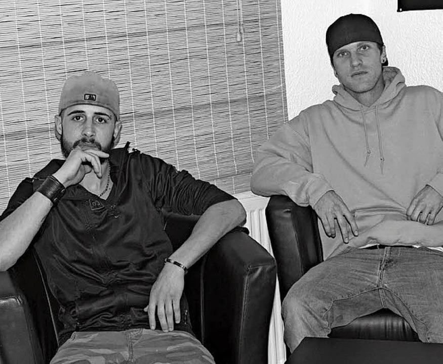Die beiden  Musiker Fabian Stamm &#822...Hip Hop und Deutschrap verschrieben.    | Foto: Picasa