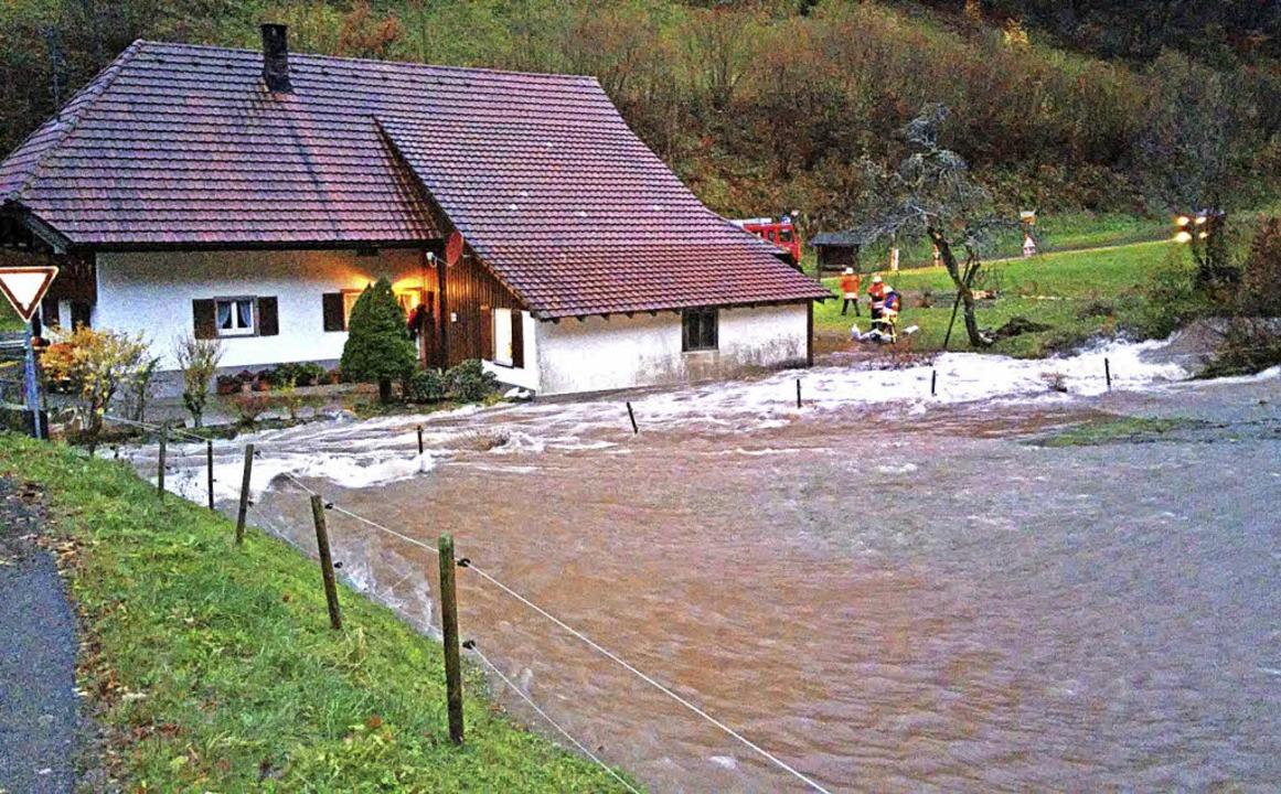 Die Kleine Wiese blieb bei Bürchau nicht in ihrem Bett.     Foto: Harald Senn