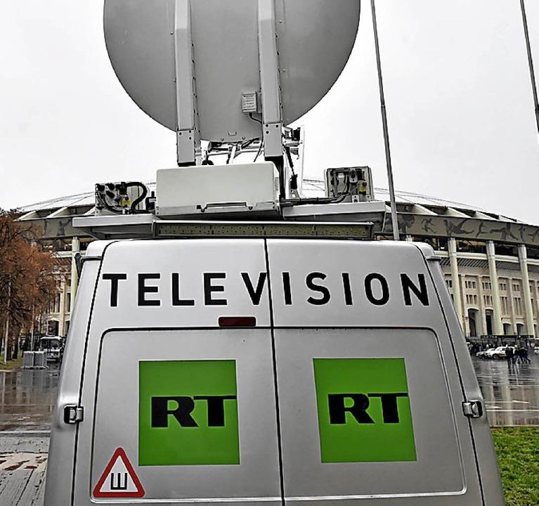 Ein RT-Übertragungswagen   | Foto: AFP