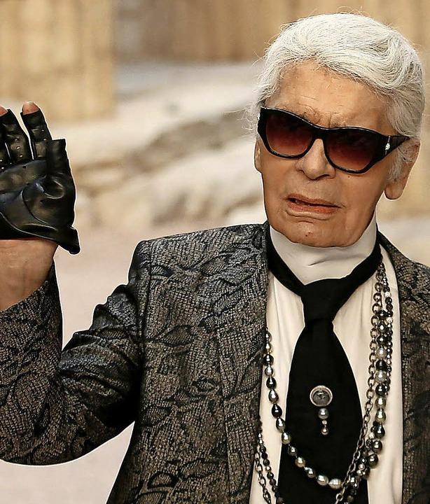 Ein Promi, der provoziert: Karl Lagerfeld   | Foto: dpa