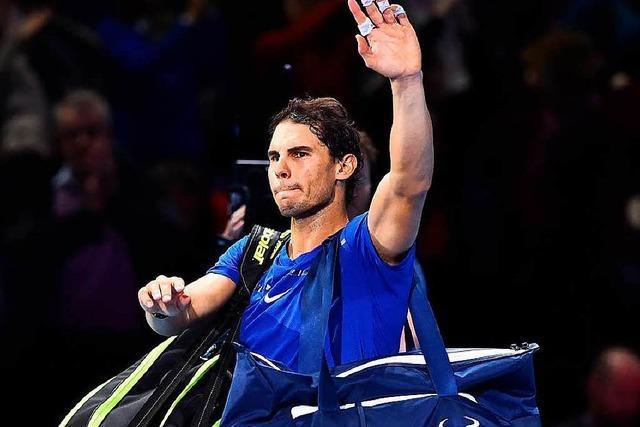 Rafael Nadal muss sich den Schmerzen beugen