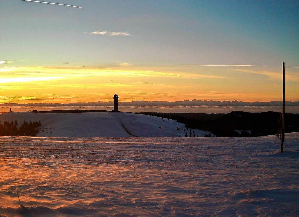 Die Schneehöhe beträgt aktuell rund 20 Zentimeter.  | Foto: Patrick Ohnemus