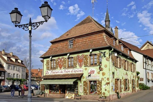 Lebkuchen-Dorf im Elsass